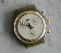SWATCH AG 1990 tachymeter chronograph quartz swiss made watch head 37mm PARTS