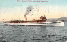 STEAMER TAHOE Lake Tahoe, California 1914 Vintage Postcard