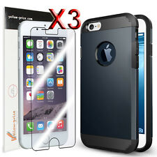 Armour Hard Back Cover Soft Case For iPhone 6 4.7'' 4.7inch Skin+3pcs Clear Film