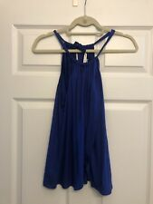 NWOT Trina Turk bright blue halter trop in size small