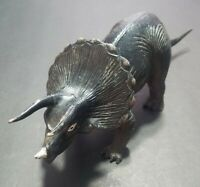 """IMPERIAL ANIMAL FIGURE 1985 VTG TRICERATOPS DINOSAUR 11"""" LONG TOY DIORAMA"""