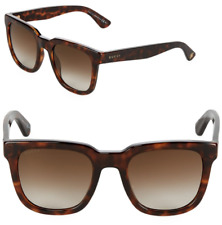 c1492cdc644 GUCCI Square Sunglasses GG 1133 S Tortoise Havana Brown Brown Lenses LSDJD