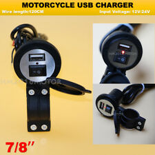 Motorcycle Black USB Charger For Honda Gold Wing GL 1100 1200 1500 1800