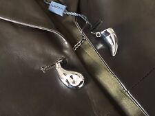 HALSTON DEEP OLIVE NAPPA LEATHER BLAZER SIZE 8/10 MADE IN ITALY RETAIL £1850