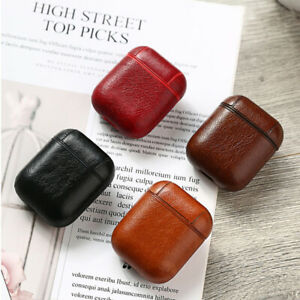 Airpods Case with Keychain PU Leather Protective Earphone Case for Airpods 1/2