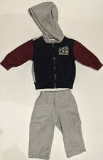 Guess Baby Boys 2 Piece Long Sleeve Hoodie & Pants Size 12 Months