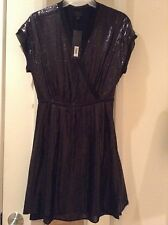 Monogram By Banana Republic Limited Edition Black Sequin S/L Dress NWT, Size 0