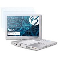 Bruni 2x Lámina Protectora para Panasonic ToughBook CF-C1 Película Protectora