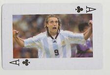 Football World Cup 2006 Playing Card single Ace - Gabriel Batistuta Argentina