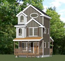 16x16 Tiny House -- 2 bedroom -- 707 sqft -- PDF Floor Plan -- Model 20C