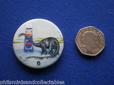 Matey Bubble Bath - Prehistoric Creatures  # 6   pin badge - 1970s
