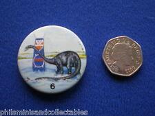 Matey Bubble Bath - Prehistoric Creatures  # 6   pin badge - 1970s