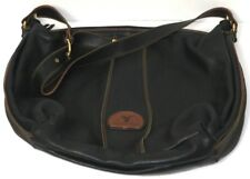 Marco Buggiani Leather Bag Soft Black Womens Cross body Handbag Pocketbook