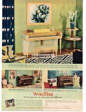 1941 WURLITZER Spinette Piano Model 340 Bleached Mahogany Vtg Print AD