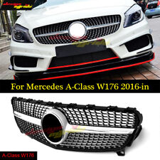 Diamond Star Grille For Mercedes Benz A Class W176 Grill Sliver 2016-in A180 250