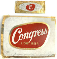 Vintage Congress Light Beer Label Syracuse New York Ny Haberle Brewing & Beck
