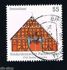GERMANIA 1 FRANCOBOLLO ARCHITETTURA TREBEL DÜNSCHE 2010 usato