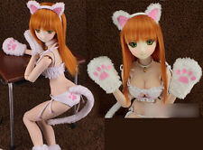 1/3 bjd dollfie dream doll DDL/DDM outfits white kitty cosplay Set ship US