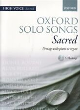 OXFORD SOLO SONGS Sacred High Voice & CD
