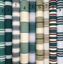 SUNBRELLA ACRYLIC CANVAS: GREEN STRIPES FOR AWNINGS AND SEAT CUSHIONS 120cm Wide