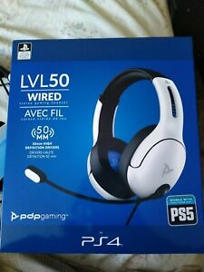 PDP Headset LVL50 Wired stereo PS4 - PS5 White