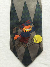 Garfield The Cat Golf Player Mens Necktie Paws Addiction 100 % Polyester