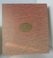 Vintage Eatons Stationary Trinket Box Pink Gold Advertising