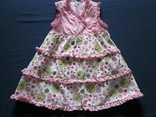 Trish Scully Kids 12 MO Girl Dress Pink Bugs Pink Green Polka Dots Tiered