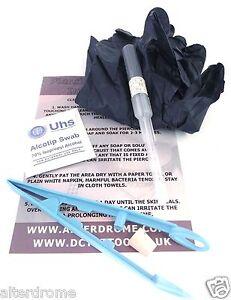 1.2mm (16g) Professionali Sterile Cannula Ago Piercing Kit Scegli Gioielleria /