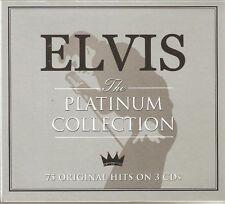 ELVIS PRESLEY THE PLATINUM COLLECTION - 75 ORIGINAL HITS ON 3 CDS