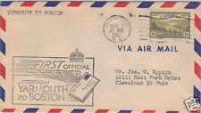 First Flight Cover Yarmouth to Boston April 1, 1947