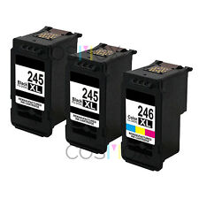 Set of 3 Cosmox remanufactured 245XL Black 246XL Color High Yield Ink for Canon