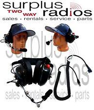 New Dual Ear Racing Headset For Motorola Radios Cp200 Cp200d Cp185 Bpr40 Pr400