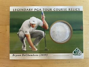 2021 Upper Deck Artifacts Golf Bryson DeChambeau PGA Tour Course Sand Relic RC