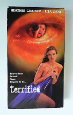 Terrified (VHS, 1995) Heather Graham Lisa Zane Rustam Branaman Rare OOP Thriller