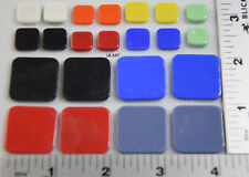 WASSER GLASS PACK 22 ASSORTED SIZES & MIXED COLORED SQUARES 90 COE COMPATIBLE