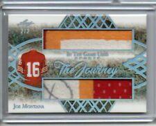 2019 JOE MONTANA LEAF IN THE GAME USED JOURNEY DUAL PATCH RELIC AUTO? SILVER 2/2