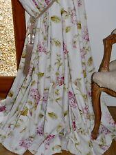 """JOHN LEWIS CURTAINS Hydrangea BLACKOUT 100% Cotton FLORAL Ea 129""""W 84""""D Nr Immac"""