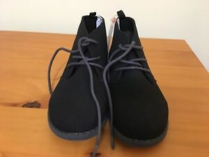 NWT Gymboree Boy Black Dress Shoes Suede Royal Red Fun and Fancy toddler kid