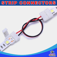 10 X 10mm 2 pins strip to strip with 15CM wire IP20 snap led strip connector
