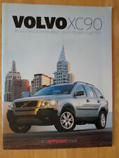VOLVO XC90 2001 UK Market Autocar promotional sales brochure