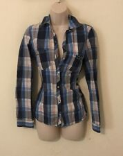 Womans Button And Snap Shirt Size Xs By Zara Trafaluc Plaid