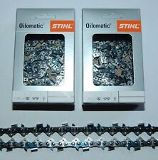 """2x Original Stihl RS Sägekette 50 cm 1,6 mm  3/8"""" VOLLMEISSEL"""