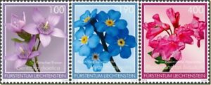 2013   LIECHTENSTEIN  -  SG:1652/54 - ALPINE FLOWERS - UNMOUNTED MINT