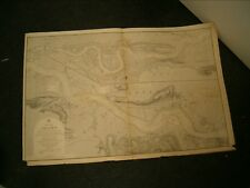 Vintage Admiralty Chart 2484 RIVER THAMES 1856 edn updated to 1899