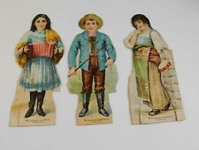 McLaughlin's Coffee Advertising Dolls - Lot of 3 fisherman, accordion player1895