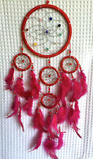 Funky New Dreamcatcher, Red with coloured beads, comes in 3 great colours