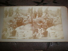 Stereoview photograph WW1 Germany PoWs from Contalmaison France c1916