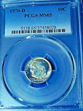 1970-D 10C Roosevelt Dime-PCGS MS65--491-1