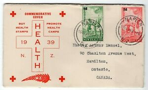 New Zealand 1939 Health Stamps - Cachet FDC Cover - Sent to Canada -